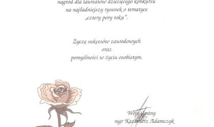 Podziękowanie od Wójta Gminy Ornontowice (rok 2003)