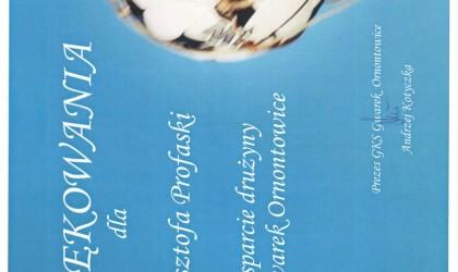 Podziękowanie od GKSu Gwarek Ornontowice (rok 2008)