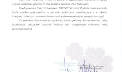 List referencyjny od firmy GSU (rok 2013)